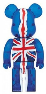 BE@RBRICK ベアブリック God Save The Queen Clear Ver. 1000%