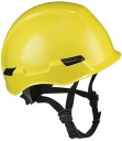 Dynamic Safety HP142R/02 Rocky Hard Hat with Nylon Suspension and Sure-Lock II Ratchet, Permanently Attached 4 Points Chin-Strap Adjustment,
