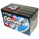 4-pack TDK Cd Power 110 Type Ii (Cro2) High Bias New Blank Audio Cassette Tapes