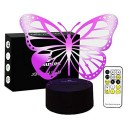 Birthday Gift for Her Night Light Animal Butterfly 7 Colours Change with Remote Control by Easuntec (Butterfly)