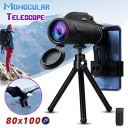80x100 Magnification Portable Monocular Telescope Binoculars
