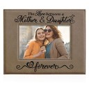 Kate Posh The Love Between a Mother & Daughter is Forever Engraved Leather Picture Frame, Mother of The Bride, First Mother's Day, Mommy & M