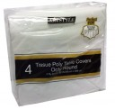 Artstyle Tissue Poly Table Covers Octy Round 4 Pack