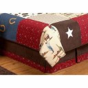 Wild West Cowboy Western Horse Queen Kids Childrens Bed Skirt by Sweet Jojo Designs