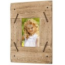 """Excello Global Products Rustic Distressed Wood Frame: Holds an 3""""x4.5"""" Photo: Ready to Hang, Shabby Chic, Driftwood, Barnwood, Farmhouse, Re"""