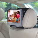 WANPOOL Portable DVD Player Car Headrest Mount with Angle-Adjustable Clamp, for use with Swivel Screen Style Portable DVD Players (DVD Playe