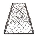 Lamp Shade Clip On Light Bulb Black Chicken Wire Shade 8x8 inch by Cleveland Vintage Lighting